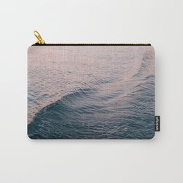 Pink Sunset Waves Carry-All Pouch