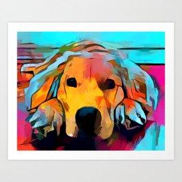 Golden Retriever 4 Art Print