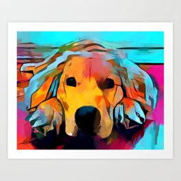 Golden Retriever 4 Art Print