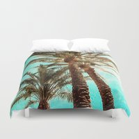 palms Duvet Covers featuring Palms by Elliott's Location Photography