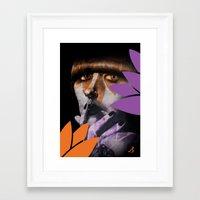 """karen hallion Framed Art Prints featuring """"Karen O"""" by Samy Vincent"""
