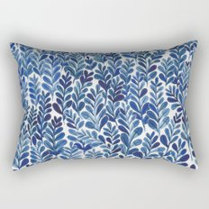 Indigo blues Rectangular Pillow