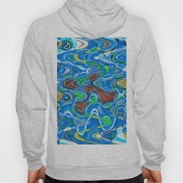 Marble Stone Abstract Seascape Hoody