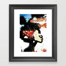 Strawberry Poster Framed Art Print