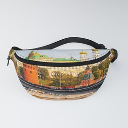 Moscow Kremlin in autumn panorama right Fanny Pack
