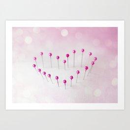 Pin Heart Art Print