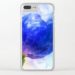 Blue Tulip Clear iPhone Case