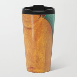 Portrait of Jeanne Hébuterne by Amedeo Modigliani Travel Mug
