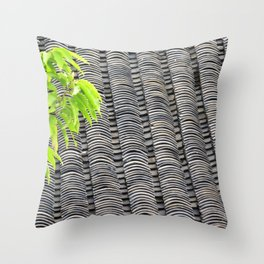 Tiled Roof Throw Pillow
