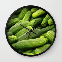Cukes Wall Clock
