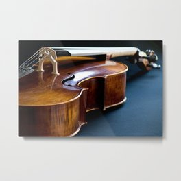 Cello in Repose Metal Print