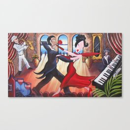 Snobby Susan dances with her hot date in Italy Canvas Print