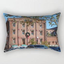 Holiday Wreaths On Building Rectangular Pillow