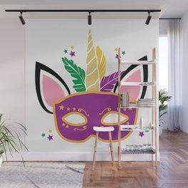 Mardi Gras Unicorn Mask Masquerade Costume Wall Mural
