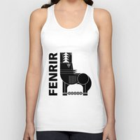 scandinavian Tank Tops featuring Fenrir Wolf (Scandinavian) by FOUR SECOND MEMORY