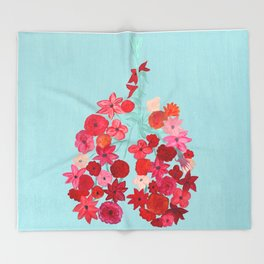 Simply Breathe - Lungs For Whitney Throw Blanket