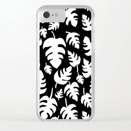 Monstera imprint Clear iPhone Case