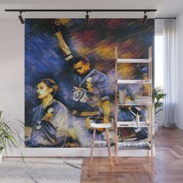 African American Classic Tommie Smith and John Carlos Black Power Olympic Protest Portrait Wall Mural