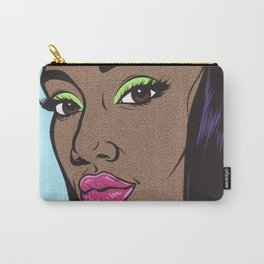 Black Fashion Model Comic Girl Carry-All Pouch