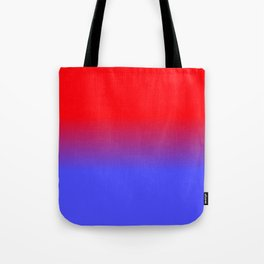 Neon Red and Bright Neon Blue Ombre Shade Color Fade Tote Bag