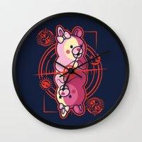 dangan ronpa Wall Clocks featuring Queen of Hope by Hoborobo