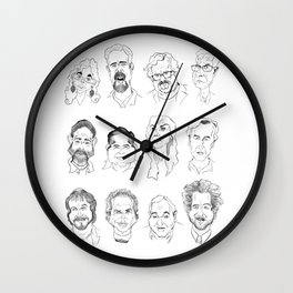 Ancient Aliens - Cast of Caricatures Wall Clock
