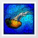 Ocean jellyfish photo bubble art | Go with the flow by luceworks