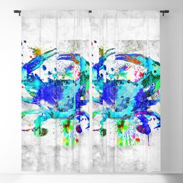 Blue Crab Blackout Curtain