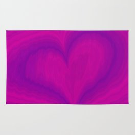 Valentine's Day Purple Violet Heart Pattern Rug