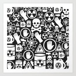 Danger a background Art Print
