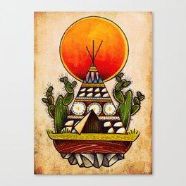 tepee print Canvas Print