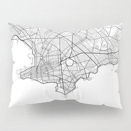 Montevideo Map White Pillow Sham