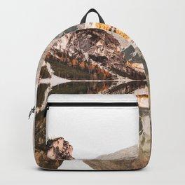 braies lake Backpack