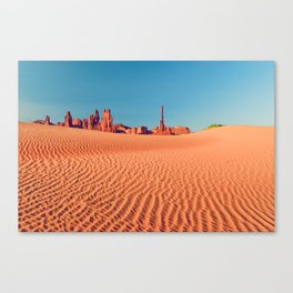 The Totem Pole (And Friends) - Monument Valley Canvas Print