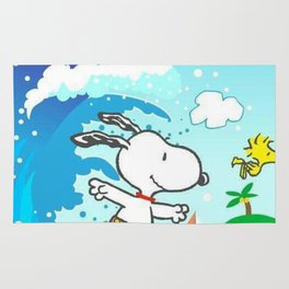 snoopy surfing Rug