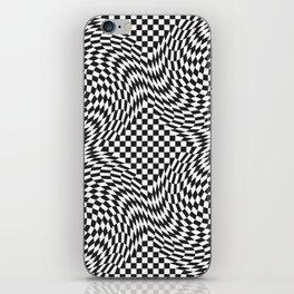 Checkered Warp iPhone Skin