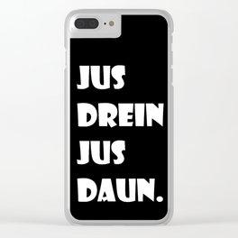 Jus Drein Jus Daun (black) Clear iPhone Case