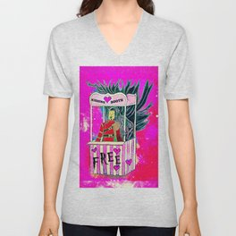 Free Kiss - Magic Universe Serie Unisex V-Neck