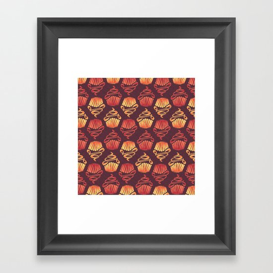 Cupcake Sunday Framed Art Print