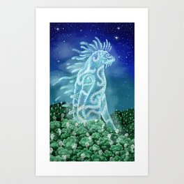 The Nightwalker (Princess Mononoke) Art Print
