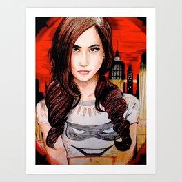 AJ Lee in Gotham Art Print