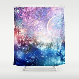 Fantasy space Shower Curtain