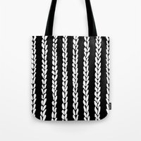 knit Tote Bags featuring Knit 8 by Project M