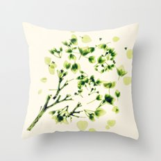 Green tickles - Botanical Print Throw Pillow