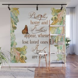 Butterflies Feathers and Angels Wall Mural