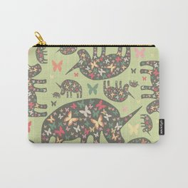 Rhinos Pattern Carry-All Pouch