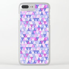 Ultraviolet mosaic Clear iPhone Case