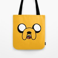 jake Tote Bags featuring Jake by D-fens
