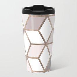 Golden Cubes I Travel Mug