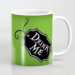 """Drink Me"" Alice in Wonderland styled Bottle Tag Design in 'Garden Green' Coffee Mug"
